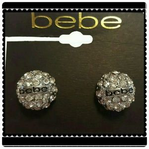 BeBe Stud Logo earrings